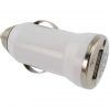 Micro Universele Autolader / Car Charger met USB-aansluiting Wit