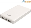 A-Solar AL-350 Portable Power Bank Pro 7000 mAh Noodlader White