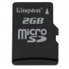 Kingston 2GB MicroSD / Transflash, Incl SD-Adapter - SDC/2GB
