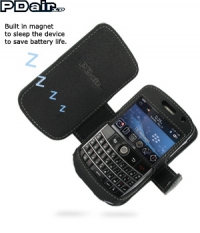 PDair Luxe Leather Case / Beschermtas BlackBerry Bold 9000 - BOOK