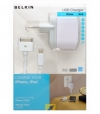 Belkin USB Sync Charge Cable iPhone iPod / MiniUSB + 220V Lader