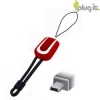 Plugit Mini-USB Laadkabel / Datakabel /  Data Cable Mini Rood