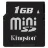 Kingston 1GB Mini Secure Digital Card, Incl SD-Adapter (MiniSD)