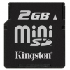 Kingston 2GB MiniSD met SD-Adapter Secure Digital Card SDM/2GB