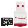 Transcend 8GB MicroSDHC Card Class 6 + P3 USB Card Reader
