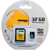 Mustang-Flash 32GB MicroSDHC Card Class 10 met SD-Adapter