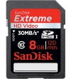 Sandisk 8GB Extreme SDHC Card Class 10 (SD-Kaart, 30MB/s, 200x)