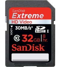 Sandisk 32GB Extreme SDHC Card Class 10 (SD-Kaart, 30MB/s, 200x)