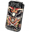 Ed Hardy Protective Sleeve Pouch with Pull Tab SkullSword Black