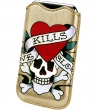 Ed Hardy Protective Sleeve Pouch with Pull Tab LKS Gold