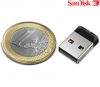 Sandisk 16GB Cruzer Fit USB 2.0 Flash Drive (Super klein formaat)