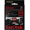 Sandisk 32GB Extreme SDHC Class 10 Full HD Video (45MB/s, 300x)