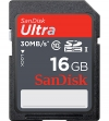 Sandisk 16GB Ultra SDHC Card Class 10 / UHS-1 (30MB/s 200x)