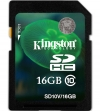Kingston 16GB SDHC Class 10 Flash Card (HD Video)