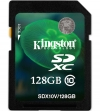 Kingston 128GB SDXC Class 10 Flash Card (HD Video)