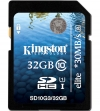 Kingston 32GB SDHC Card Class 10 UHS-I Elite  (30MB/s, 200x)