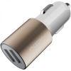 Rock Motor Dual USB Autolader / Car Charger 2.1A - Goud/Wit