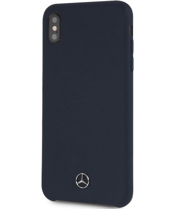 "Mercedes-Benz Silicone Case - Apple iPhone XS Max (6.5"") - Blauw"
