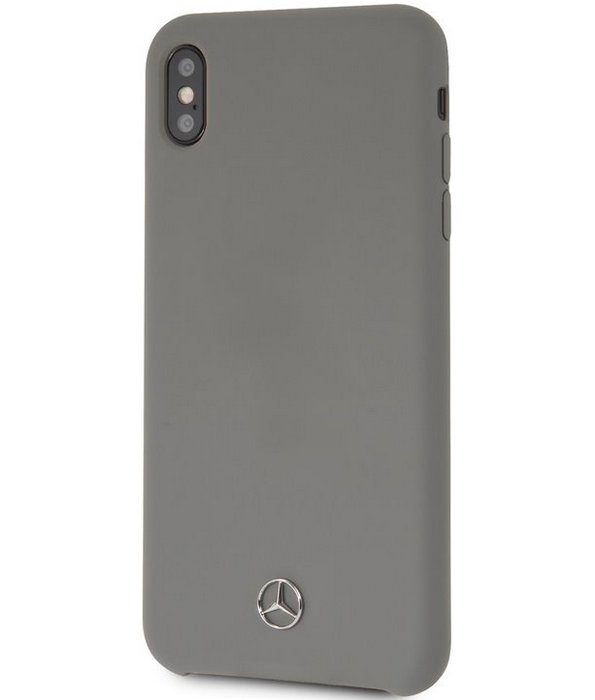 "Mercedes-Benz Silicone Case - Apple iPhone XS Max (6.5"") - Grijs"