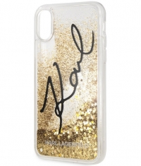 "Karl Lagerfeld Star Glitter Case - iPhone X/XS (5.8"") - Goud"