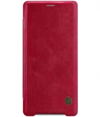 Nillkin Qin PU Leather Book Case voor Sony Xperia XZ3 - Rood