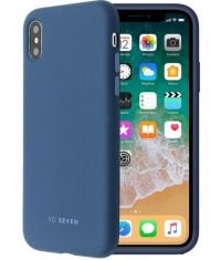 "So Seven Smoothie SiliconeCase - iPhone X/XS (5.8"") - Blauw"