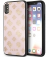 "Guess Glitter Peony Hard Case - Apple iPhone X/XS (5,8"") - Roze"