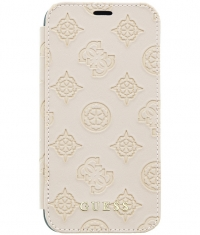 "Guess Peony Debossed Logo Book Case - iPhone X/XS (5.8"") - Taupe"