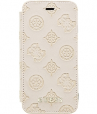 "Guess Peony Debossed Logo Book Case - iPhone 7/8 (4.7"") - Taupe"