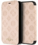 "Guess Peony Debossed Logo Book Case - iPhone XR (6.1"") - Taupe"
