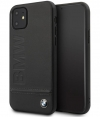 "BMW Signature Leather Hard Case - Apple iPhone 11 (6.1"") - Zwart"