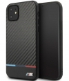 BMW Carbon Tricolore HardCase - Apple iPhone 11 (6.1'') - Zwart
