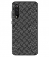 Nillkin Hard Case Synthetic Fiber voor Xiaomi Mi 9 - Plaid Zwart
