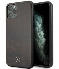 Mercedes-Benz Wood Hard Case iPhone 11 Pro (5.8'') - Donkerbruin