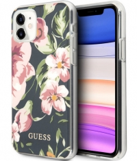 "Guess Shiny Flower Hard Case Apple iPhone 11 (6.1"") - Design N.3"