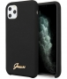 Guess Silicone Retro Hard Case iPhone 11 Pro Max (6.5'') - Zwart