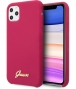 Guess Silicone Retro Hard Case iPhone 11 Pro Max (6.5'') Burgundy