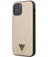 "Guess Saffiano V-Stitch Hard Case iPhone 12 Pro Max (6.7"") - Goud"