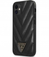 "Guess V-Quilted Hard Case - Apple iPhone 12 Mini (5.4"") - Zwart"