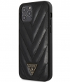 "Guess V-Quilted Hard Case Apple iPhone 12 Pro Max (6.7"") - Zwart"