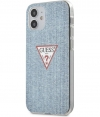 "Guess Denim Hard Case - Apple iPhone 12 Mini (5.4"") - Lichtblauw"