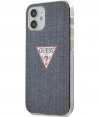 "Guess Denim Hard Case - Apple iPhone 12 Mini (5.4"") - Donkerblauw"