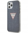 "Guess Denim Hard Case Apple iPhone 12/12 Pro (6.1"") - Donkerblauw"
