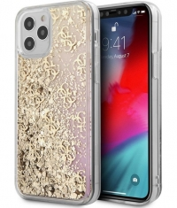 "Guess 4G Gradient Liquid Glitter iPhone 12 Pro Max (6.7"") - Goud"