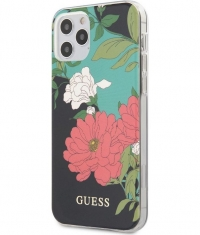 "Guess Shiny Flower Hard Case Apple iPhone 12/12 Pro (6.1"") - N.1"