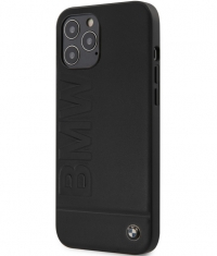 BMW Signature Leather Hard Case - Apple iPhone 12/12 Pro - Zwart