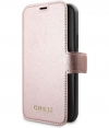 "Guess Iridescent Book Case Apple iPhone 12/12 Pro (6.1"") Roségoud"
