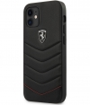 "Ferrari Heritage Leather Hard Case - iPhone 12 Mini (5.4"") Zwart"