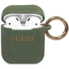 Guess Silicone Case voor Apple Airpods 1 & 2 - Khaki