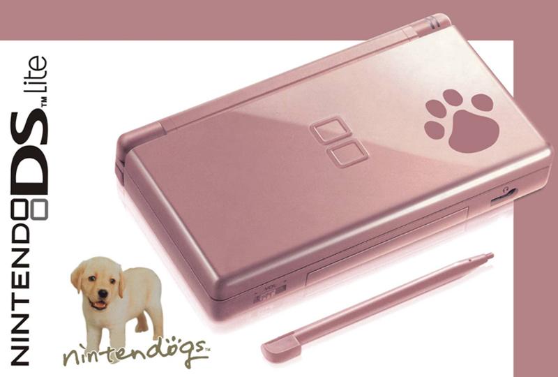 digitalsonline nintendo ds lite game console metallic rose nintendogs. Black Bedroom Furniture Sets. Home Design Ideas